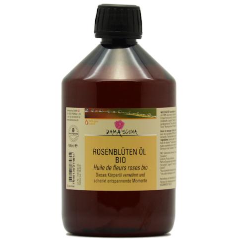 Rosenblüten-Körper-Massageöl BIO 500ml