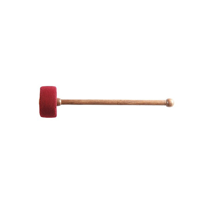 Trommelschlägel Nepal rot klein