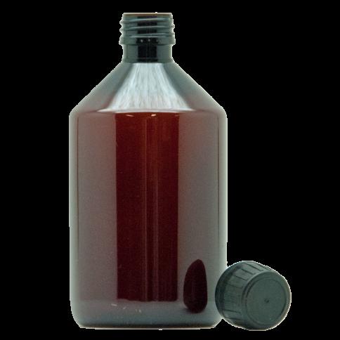 Braunflasche mit Verschluss 500ml