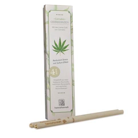 4 Stück Cannabis Ohrkerzen hannahannah