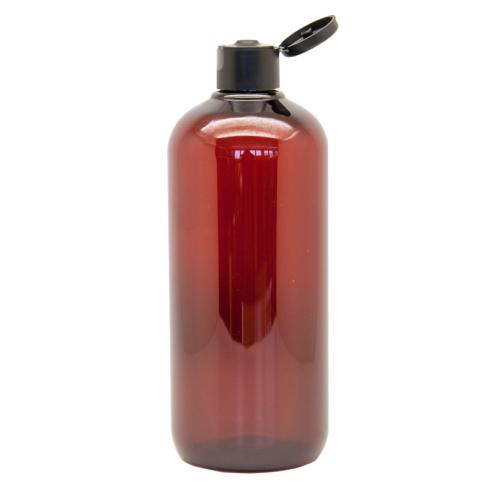 Braunflasche 100% R-PET mit Klappdeckel 500ml