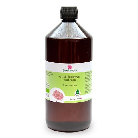 Rosenblütenwasser Damascena BIO 1000ml - Pflanzenwasser | Hydrolat